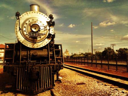 Vintage train in Belton Stock Photo