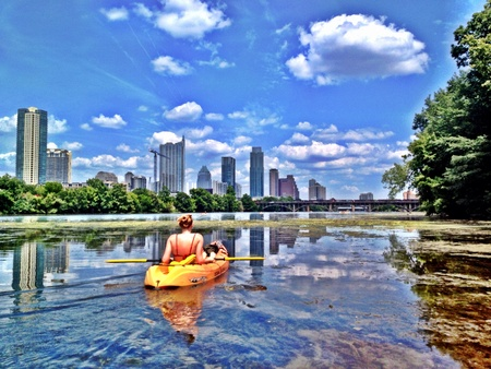 Kayaking with my friend