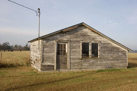 An old deserted farm shack in rural South Carolina. Stock Photo