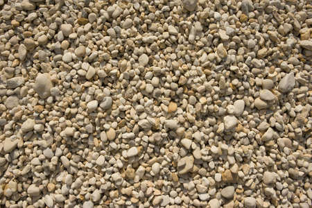 a wide view of off white small pebbles