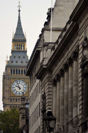 Big Ben as viewed from Great George Street, London  Editorial
