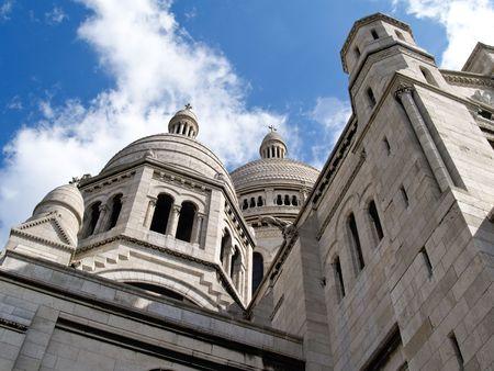 coeur: Kathedraal, de Sacre Coeur, Parijs. Stockfoto