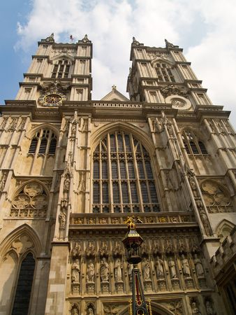 Westminster Abbey, looking up. Stock Photo