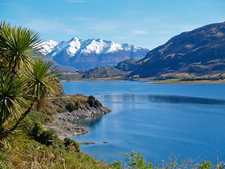 Lake Hawea, view.