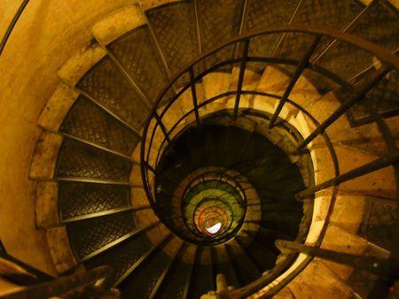 Winding, circular staircase. 版權商用圖片 - 5754988