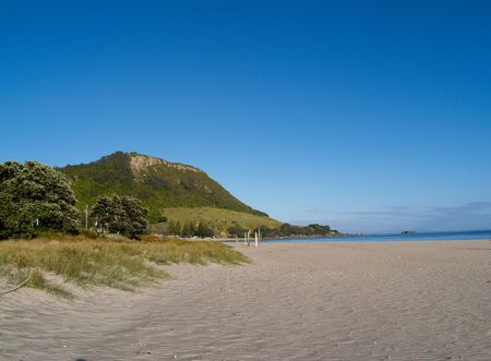 New Zealand's Mount Maunganui ocean beach.