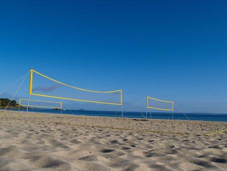 ballon volley: Brach volley ball filets.