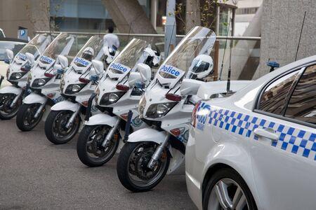 motor cop: Sydney, Australia, January 2011, Police motorcycles parke on sydney street.