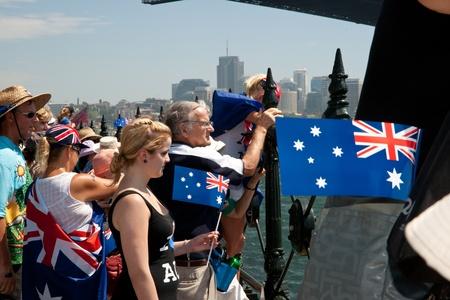 recolectar: Sydney, Australia, el 26 de enero de 2011, las personas se re�nen para celebrar Australia en Sydneys frente al mar.