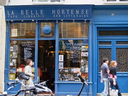 business scene: PARIS, FRANCE - JUNE 21, 2009: Popular shop La Belle Hortense typifies small Parisian business.