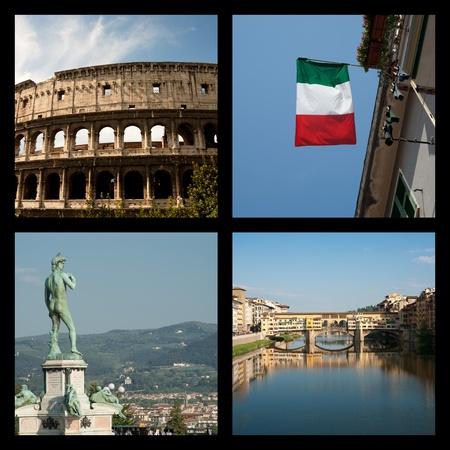 Italian image montage.