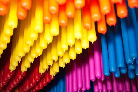 brigt: Candles of all colours  Stock Photo