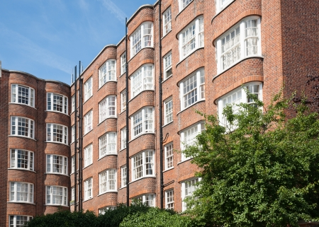 victorian architecture: Red brick apartments, Victorian architecture