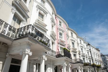 Exceptional Classical Architural Terrace Homes In London Stock Photo   21656936