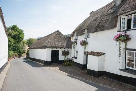 White walled houses in small village  photo