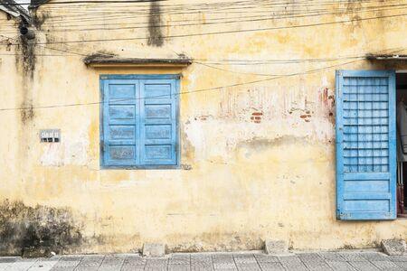 Door and window in rustic wall  photo