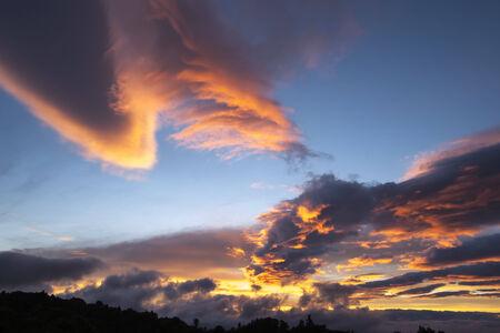 cloud formation: Cloud formation, altocumulus lenticularis,