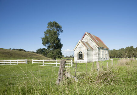 country church: Small white country church