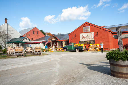 traditional goods: Weston, VT, USA - October 10, 2014; the historic Vermont Country Store with produce display outside.The store retails range of traditional goods and is a tourist destination. Editorial