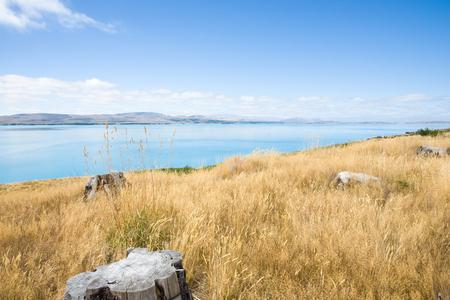 the south island: Lake Pukaki, Canterbury, South Island NZ.