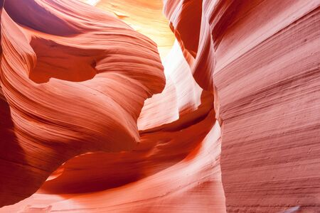 lower antelope: Lower Antelope Canyon  textures and backgrounds of intense colors and swirl patterns in limestone formations Page Arizona USA Stock Photo