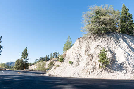 Bernardino: Winding road climbing into the San Bernardino National Forest towards Pacific Coast