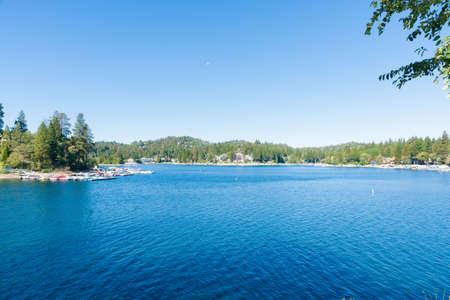 bernardino: Lake Arrowhead resort village California USA Stock Photo