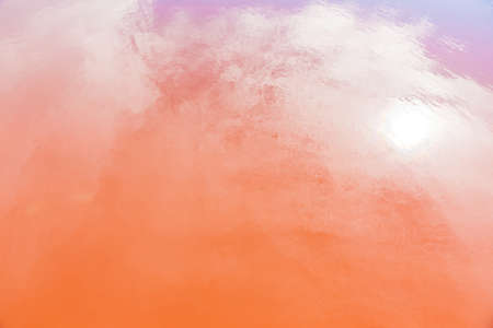Abstract background soft orange predominant color at famous salt flats at Gruissan, Languedoc-Roussillon, France. very well known for producing sea salt from marshes on coastline.