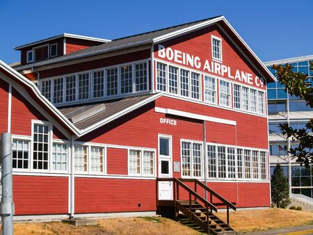 Seattle, USA - July 21, 2008; Original Boeing Airplane Company building at the Museum Of Flight in Seattle