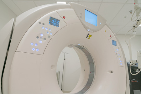 CT Scanner in hospital in radiography center. Stock Photo