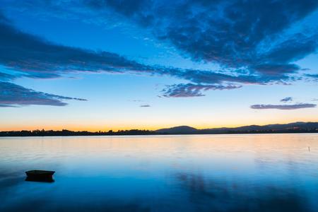 Tauranga glorious dramatic sunrise blue and golden hues.