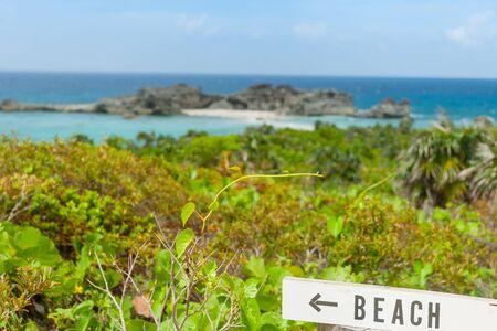 Beautiful Caribbean island Mugjin Beach on Turks and Caicos