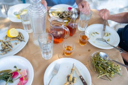 What was left of our lunch at Moni, in the hills of the interior of Naxos