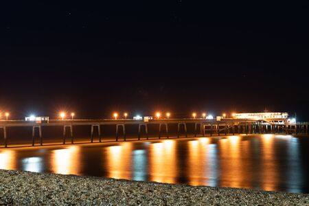 Deal Pier South England long jetty leading from Beach Street into sea.
