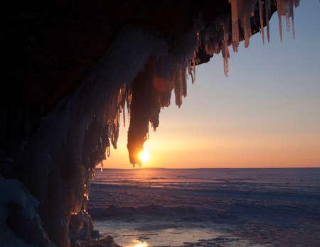 Sunset on lake Superior Banco de Imagens - 46697082