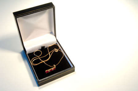 nicety: Necklace in gift box on white