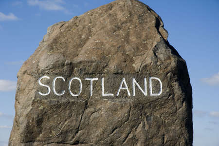 denote: Border marker between Scotland and England at Carter Bar