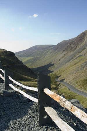 lake district: Lake District mountain pass Stock Photo
