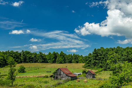 An old barn in Floyd County, Virginia