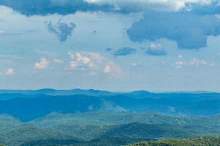 north ridge: A view of the North Carolina countryside from the Blue Ridge Parkway Stock Photo
