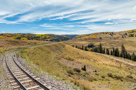 narrow gauge railroads: Narrow Gauge railroad tracks pass through Osier, Colorado in the San Juan National Forest
