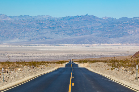 Stovepipe Wells is a small waystation entirely inside Death Valley National Park and along California State Route 190 at less than 10 feet above sea level. West on SR190 is Towne Pass at about 4,950 feet above sea level. Eventually, the road meets Panamin