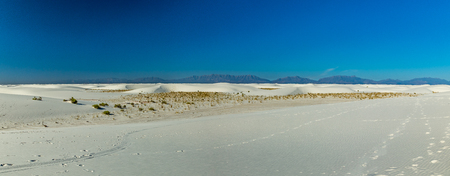 White Sands National Monument is in the northern Chihuahuan Desert in the U.S. state of New Mexico. Its known for its dramatic landscape of rare white gypsum sand dunes, and is the largest dune field of its kind in the world.