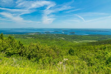 Acadia National Park is a national park located in the U.S. state of Maine. It reserves much of Mount Desert Island, and associated smaller islands, off the Atlantic coast. Acadia is the oldest designated national park area east of the Mississippi River.