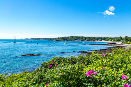 Looking across Simonton Cove from the Southern Maine Community College Campus in South Portland. Portland Head Light is in the distance.