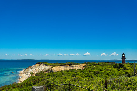 Gay Head Light is a historic Marthas Vineyard lighthouse located on the islands westernmost point off of Lighthouse Road in Aquinnah, Massachusetts.