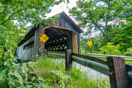 winchester: The Coombs Covered Bridge is a wooden covered bridge which carries Coombs Bridge Road over the Ashuelot River in northern Winchester, New Hampshire.