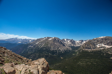 Trail Ridge Road is the name for a stretch of U.S. Highway 34 that traverses Rocky Mountain National Park from Estes Park