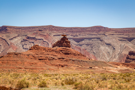 Mexican Hat is a curiously sombrero-shaped rock outcropping in southwestern Utah. The rock measures 60 feet across. The Hat has two rock climbing routes ascending it.