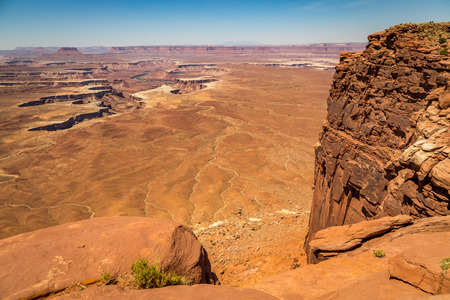 Canyonlands National Park is located in southeastern Utah near Moab. It preserves a colorful landscape eroded into countless canyons, mesas, and buttes by the Colorado River, the Green River, and their respective tributaries.